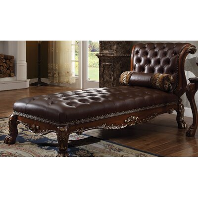 Dresden Chaise Lounge Upholstery: Cherry Oak
