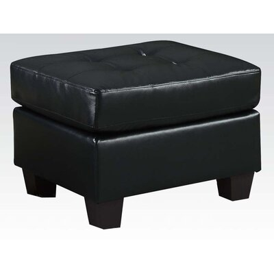 Platinum Cocktail Ottoman Upholstery: Black