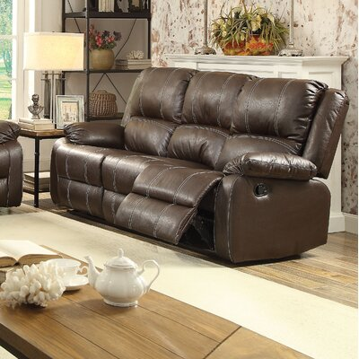 Zuriel Reclining Sofa Upholstery: Brown