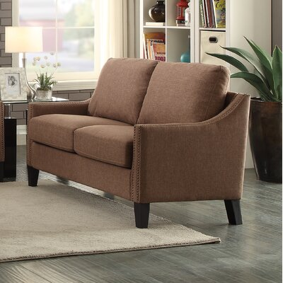 Zapata Jr Loveseat Upholstery: Brown