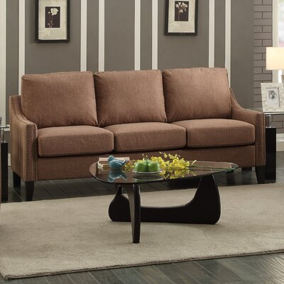 Zapata Jr Sofa Upholstery: Brown
