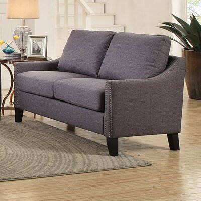 Zapata Jr Loveseat Upholstery: Gray