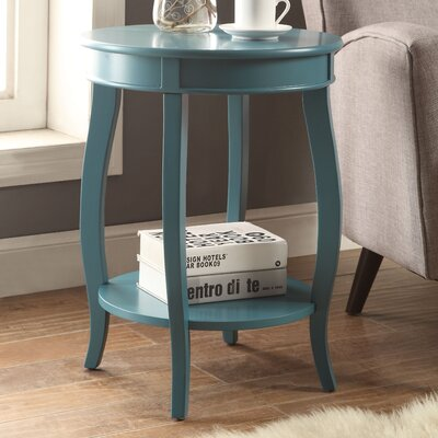 Aberta End Table Color: Teal