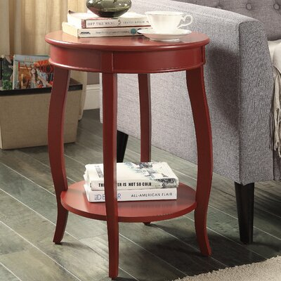 Aberta End Table Color: Red