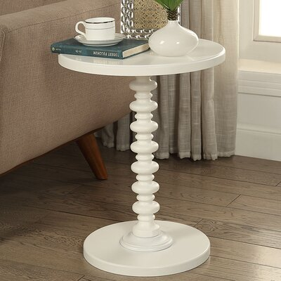 Acton End Table Color: White