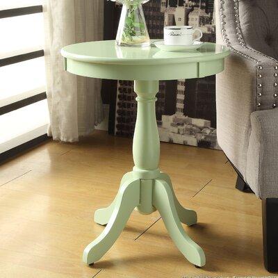 Alger End Table Finish: Light Green