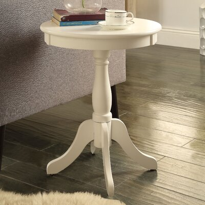 Alger End Table Color: White