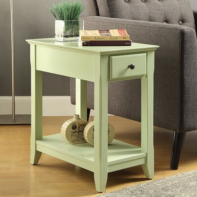 Bertie End Table Finish: Light Green