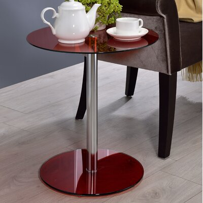 Halley End Table Color: Red