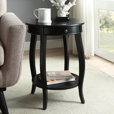 Alysa End Table Finish: Black