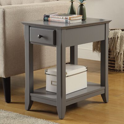 Bertie End Table Finish: Gray