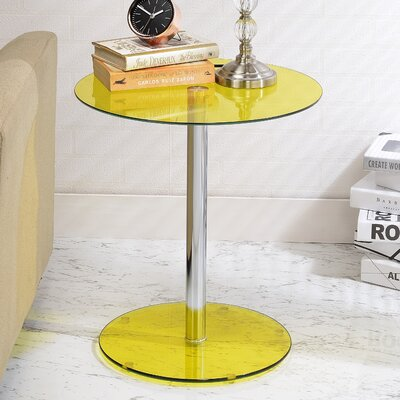 Halley End Table Color: Yellow
