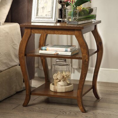 Becci End Table Color: Walnut