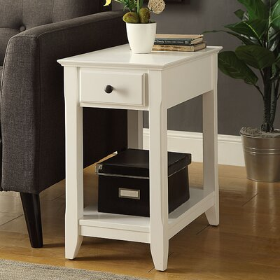 Bertie End Table Finish: White