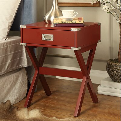 Babs End Table Finish: Red