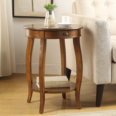 Alysa End Table With Storage Color: Wulnut
