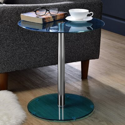 Halley End Table Color: Blue