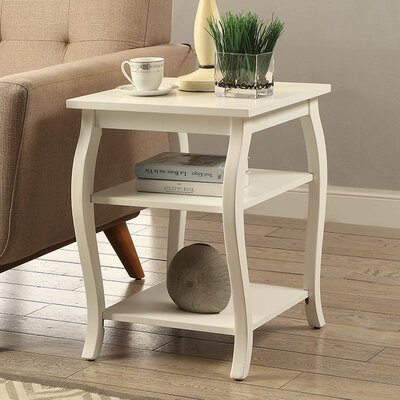 Becci End Table Color: White