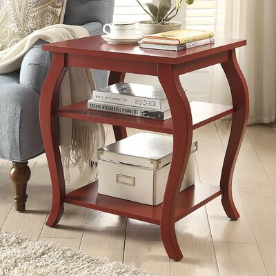 Becci End Table Color: Red