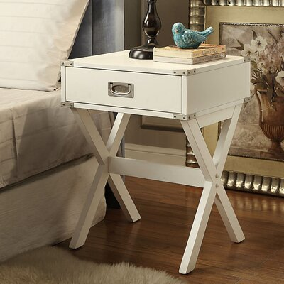 Babs End Table Finish: White