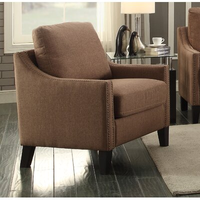 Zapata Jr Armchair Upholstery: Brown