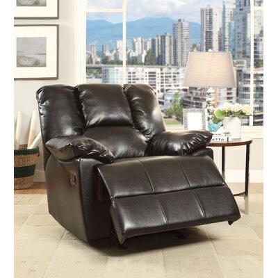 Oliver Glider Recliner Upholstery: Black