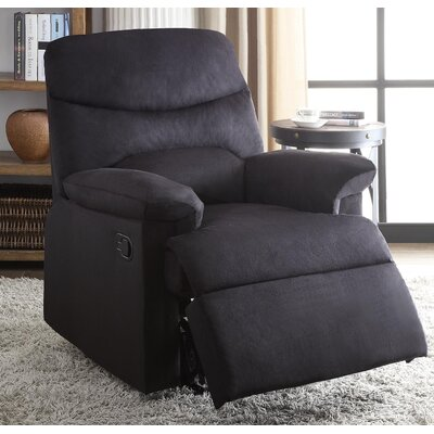 Arcadia Recliner Upholstery: Black