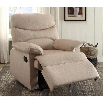 Arcadia Recliner Upholstery: Beige