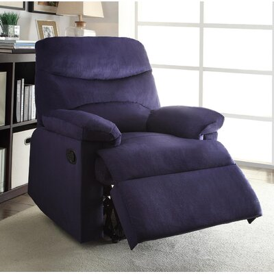 Arcadia Recliner Upholstery: Blue