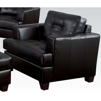 Platinum Club Chair Upholstery: Black