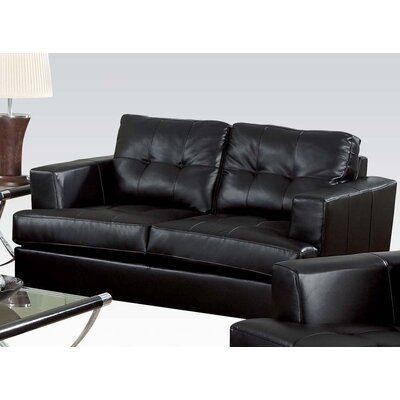 Platinum Loveseat Upholstery: Black