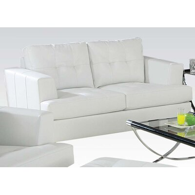 Platinum Loveseat Upholstery: White