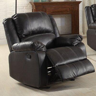 Zuriel Recliner Upholstery: Black