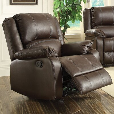 Zuriel Recliner Upholstery: Brown