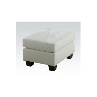 Platinum Cocktail Ottoman Upholstery: White