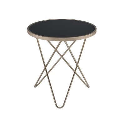 Valora End Table Color: Black