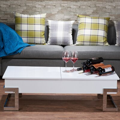 Calnan Coffee Table with Lift Top Color: White
