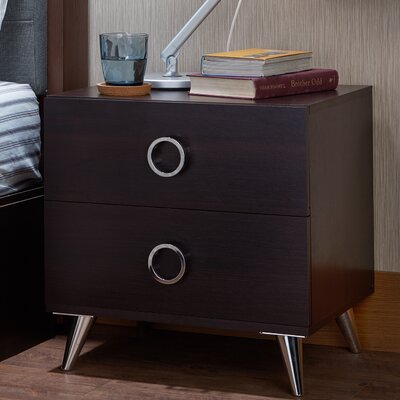 Elms 2 Drawer Nightstand Finish: Espresso