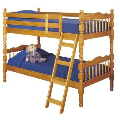 Homestead Twin Over Twin Bunk Bed Size: Twin, Finish: Honey Oak