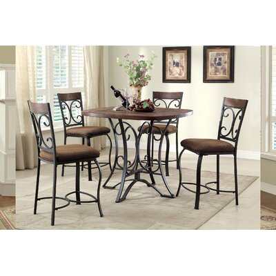 Hakesa 5 Piece Counter Height Dining Set
