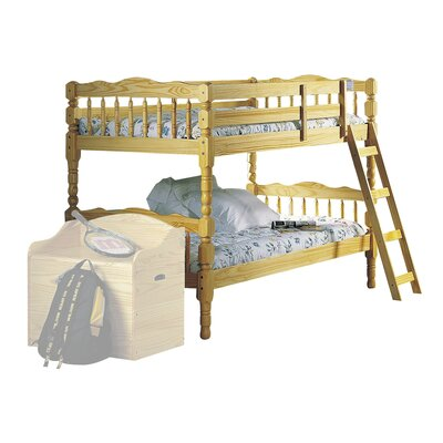 Homestead Twin Over Twin Bunk Bed Finish: Natural, Size: Twin