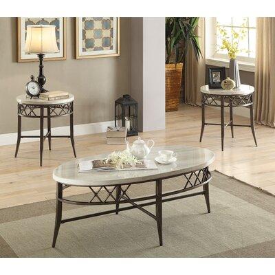 Aldric 3 Piece Coffee Table Set