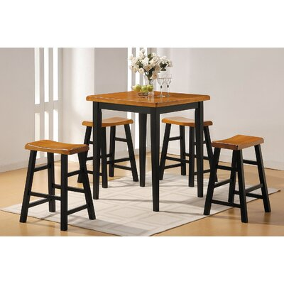 Gaucho 5 Piece Counter Height Dining Set Finish: Oak