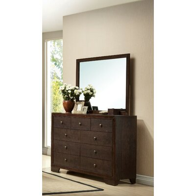 Madison 9 Drawer Double Dresser with Mirror