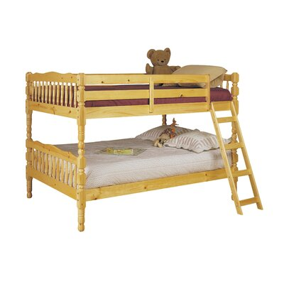 Homestead Twin Over Twin Bunk Bed Size: Full, Color: Natural