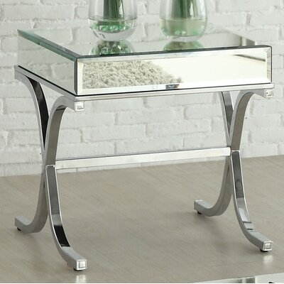 Yuri Mirrored Top End Table