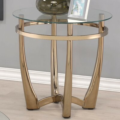 Orlando II Clear Glass End Table