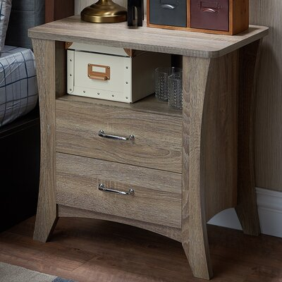 Colt 2 Drawer Nightstand