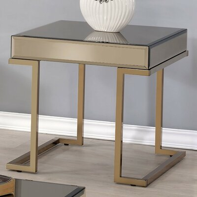 Malin Mirror End Table