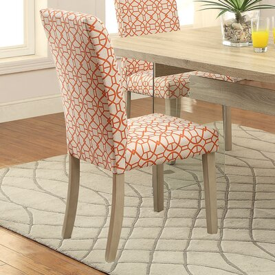 Glassden Side Chair Upholstery: Orange